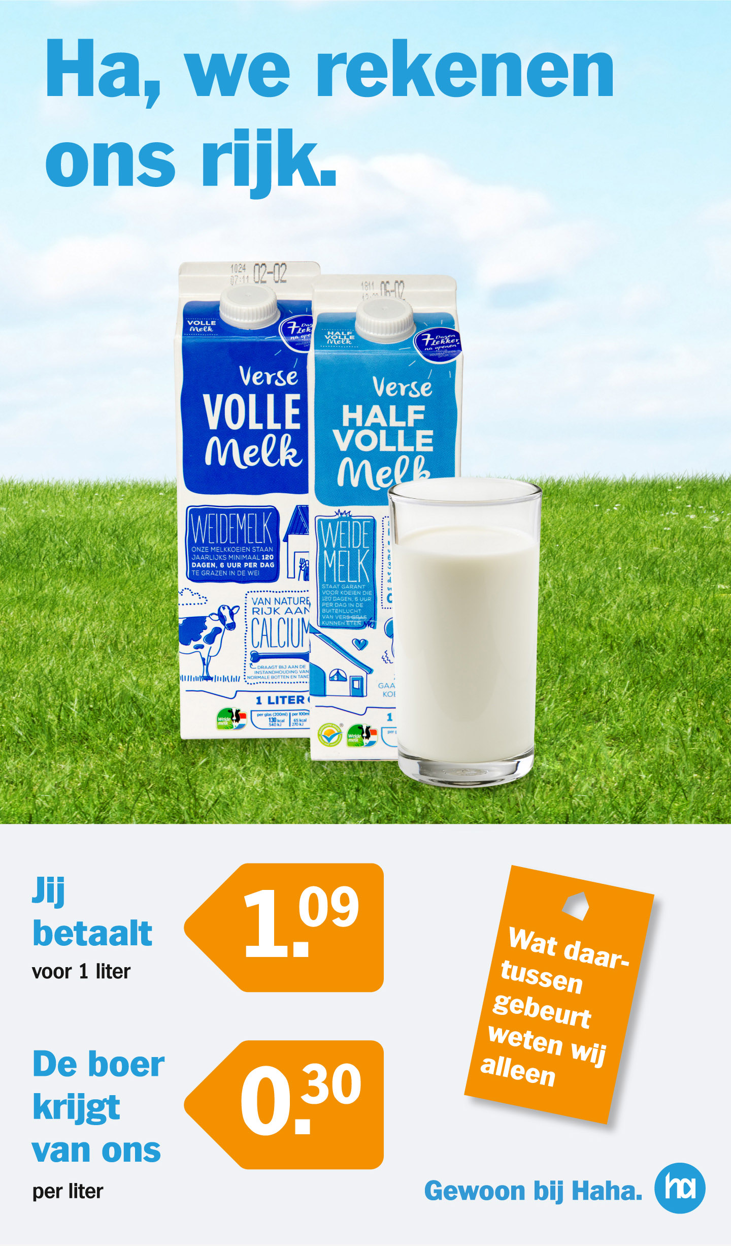 Dagblad-De-Pers-Milieudefensie-Albert-Heijn-advertentie-melk-campagne-graphic-alert-act-impact