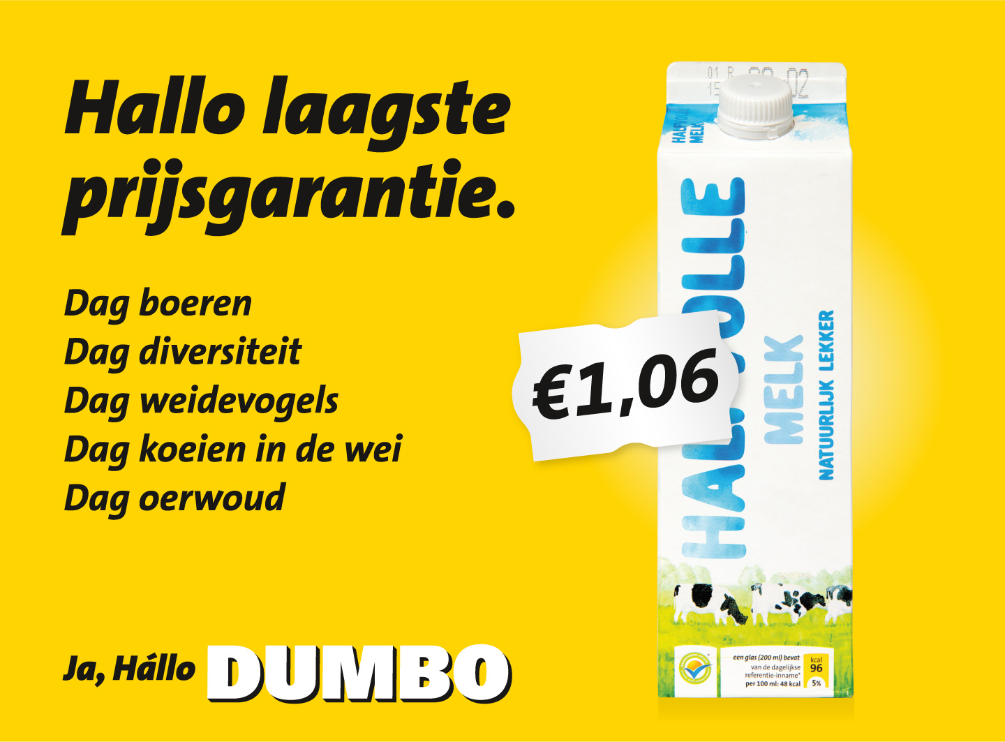 Dagblad-De-Pers-Milieudefensie-Jumbo-melk-advertentie-campagne-graphic-alert-act-impact
