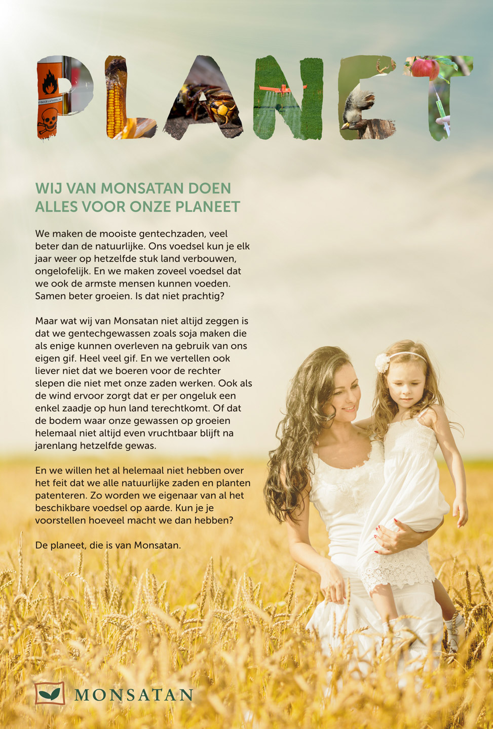 Dagblad-De-Pers-Milieudefensie-Monsanto-monsantan-advertentie-campagne-graphic-alert-act-impact